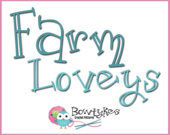 Farm Loveys Combo Pack (chick, duck, cow, horse, lamb, pig) - CROCHET PATTERN instant download - blankey, blankie, security blanket