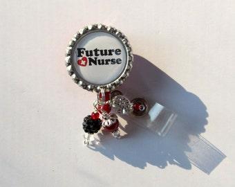 Future Nurse Retractable Badge Reel - Future Nurse Gift - Student Nurse Badge Reel - Designer Badge Clips - Unique Badge Reels - Fun ID Pull
