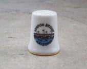 Vintage London Bridge Arizona Thimble   Souvenir Thimble from London Bridge in Lake Havasu City Arizona