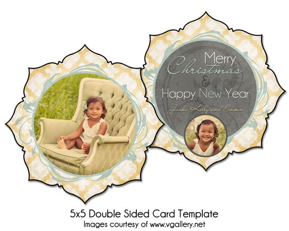 christmas card template golden wishes 5x5 double sided. Black Bedroom Furniture Sets. Home Design Ideas