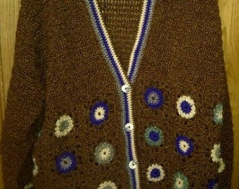 Crochet Cardigan - Handmade - SIZE UK 18-20
