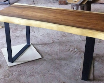 Live Edge Desk Table Reclaimed Acacia Wood Solid Slab