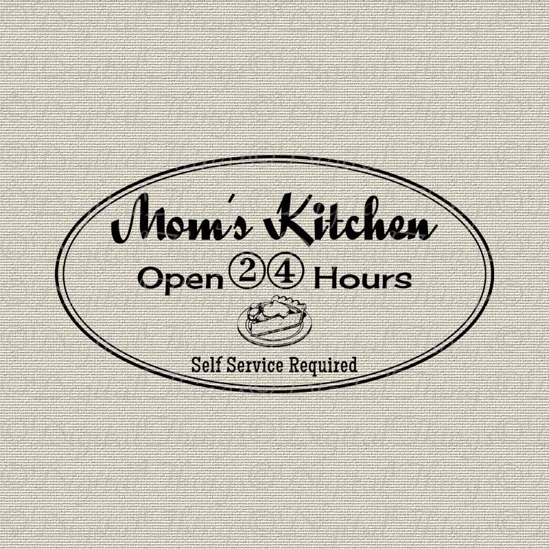 Mommas Kitchen: MOM's KITCHEN Open 24 Hours Kitchen Decor Art By DigitalThings