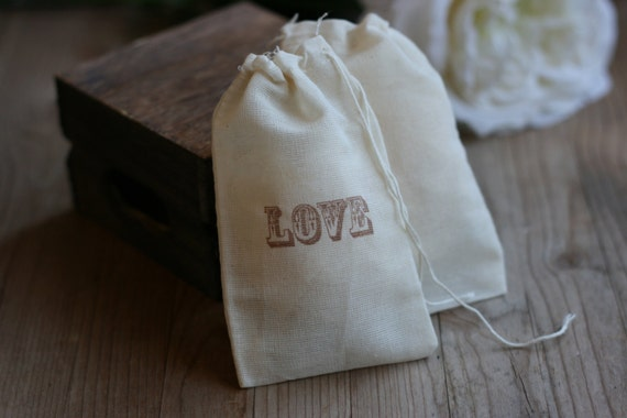 Wedding Favor Muslin Bags : of 24 muslin wedding favor bag, NaTuRaL MuSLiN , rustic wedding favor ...