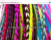 25% clearance HUGE SALE 30 Very LONG Whiting Hair Feather Extensions aLl MicRolinks included