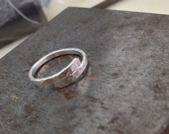 Bypass Ring SINGLE STERLING Simple Textured