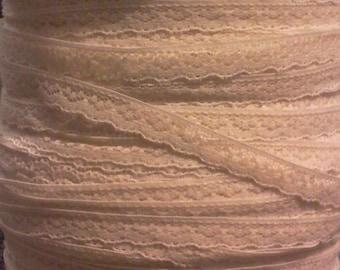 50 vintage ercu Ivory lace strips