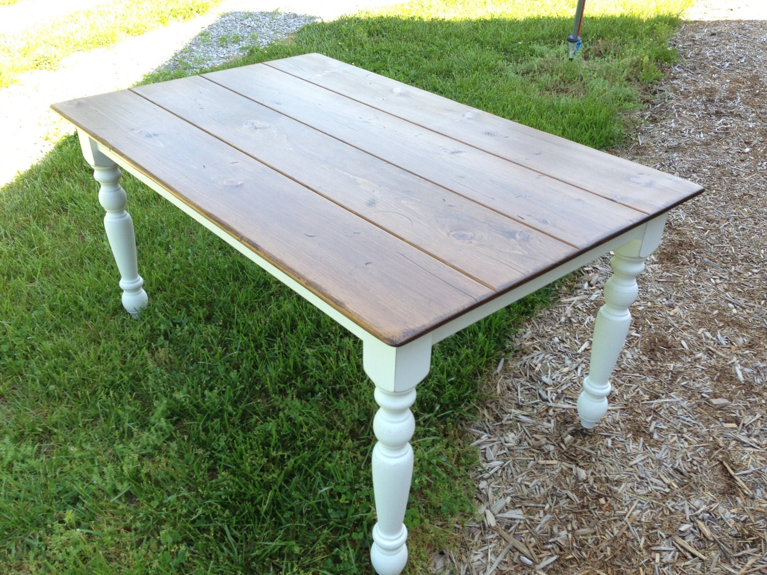 Dining Table Farmhouse Kitchen Table Etsy Furniture By Kkfurniture