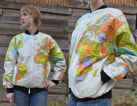 Map of the world jacket map of the world jacket wearin the world seapunk world map tyvek white travel hipster atlas gumiabroncs Images