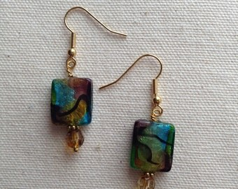 Art Glass Bead Earrings
