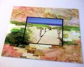Postcard, Fiber Art print, quilted photo landscape