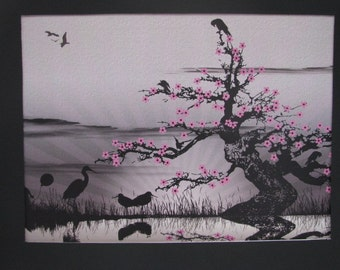Art print, Reflections, Blossoms