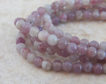 4mm Natural Chinese Tourmaline Semi-Precious Polished Round Beads, 16 Inch Strand (IND1C43)