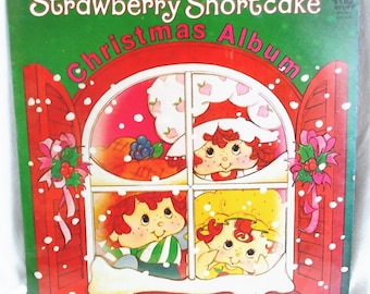 Record LP Vinyl Album Strawberry Shortcake Christmas Vintage Childrens Record 1980 US Shipping Included