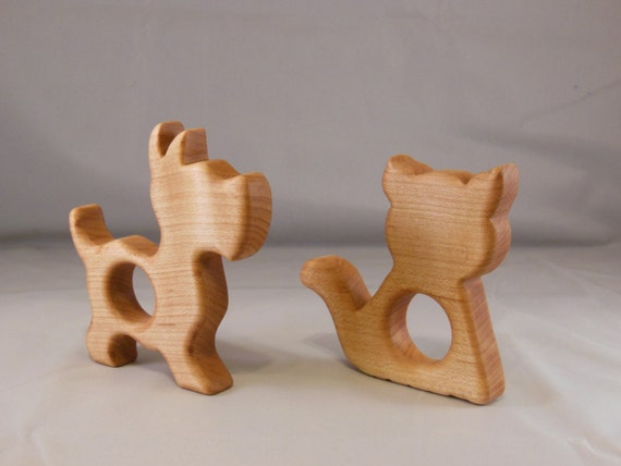 Baby Teethers - Kitty and Dog shapes