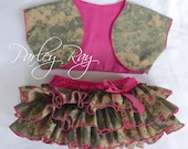 Parley Ray Daddy's Girl Welcome Home ACU All Around Ruffled Skirt, Shrug and Bracelet Baby Bloomers Military Army