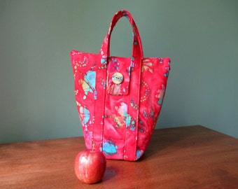 Insulated lunch bag, fabric