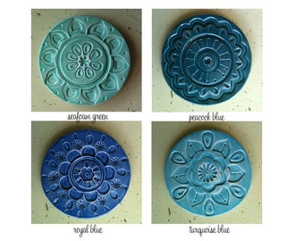 handmade ceramic coaster set