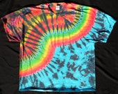 Rainbow Fire and Water Tie Dye 3X-Large Shirt #192