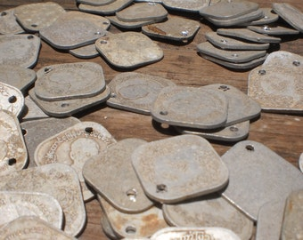 Old Burma Coins 50 Square Coins