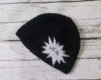 Hi-Ya Karate Crochet Knit Boy Hat with Felt Appliqué - sizes Baby to Teen