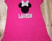 Girl's cute personalized Minnie dress