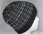 Teens Winter Beanie, Black Mens Wool Hat, Unisex Boyfriend Hat, Multicolor Knit Cap, Light Weight Beanie, Womens Winter Cap