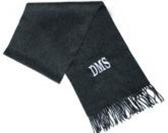 Personalized Charcoal Grey Scarf monogrammed