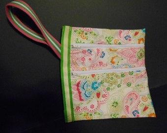 Wristlet Paisley bag