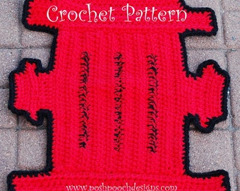 Instant Download - Crochet Pattern  - Fire Hydrant Dog Rug Pet mat  Dog Blanket , Wall Decor