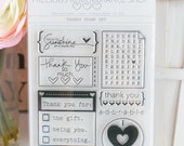 Thanks Stamp Set - Photopolymer Clear Stamps, Made in USA