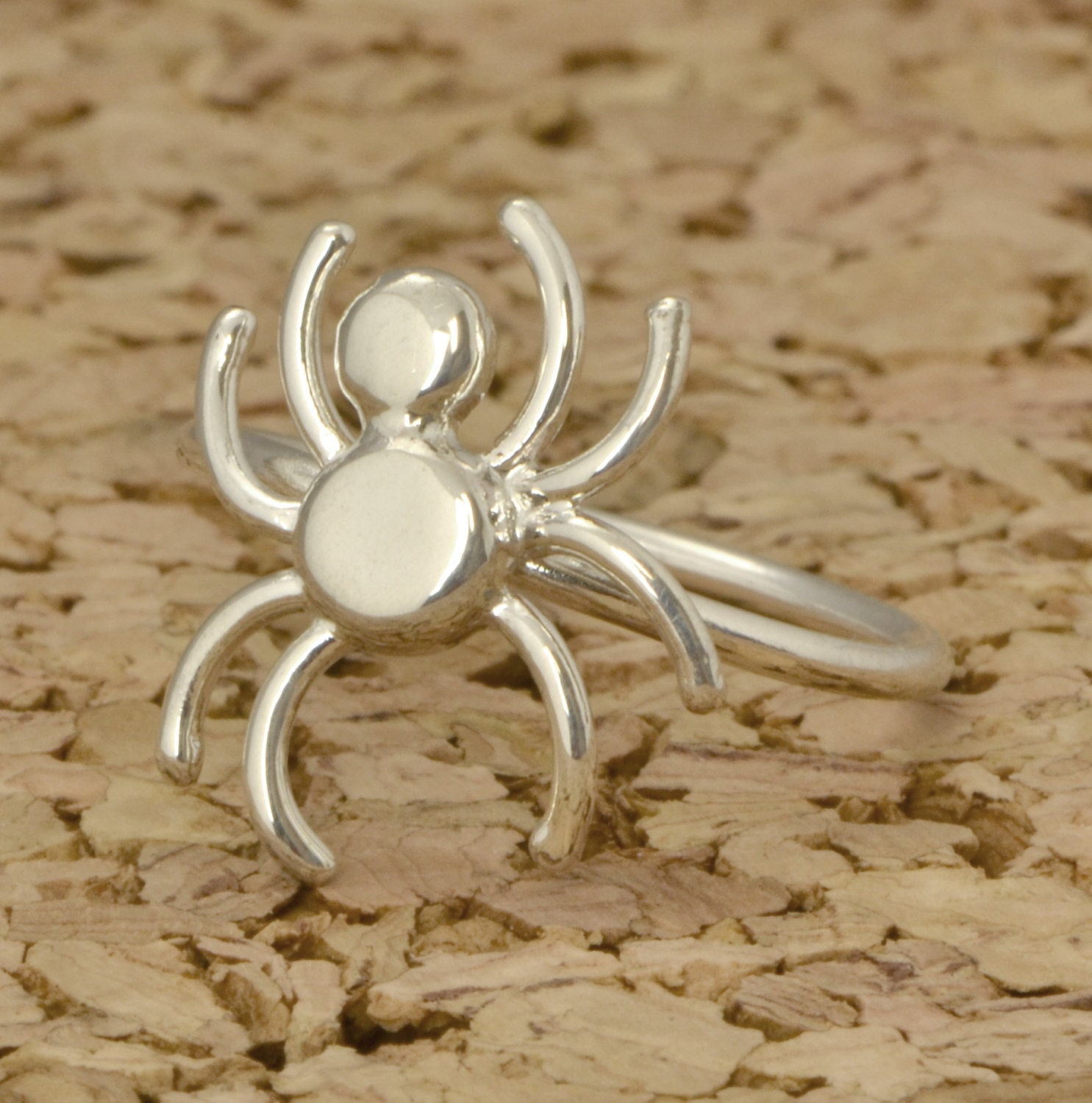 spider ring silver ring ring spider jewelry