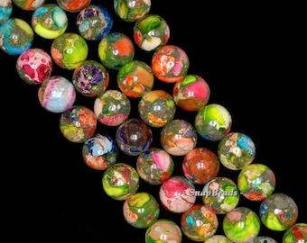 8mm Imperial Jasper Gemstone Grade AA Rainbow Round Loose Beads 16 inch Full Strand (90143663-170)