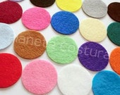 Felt Circles. Set of 20 pieces. Size 38mm ONE COLOR for package