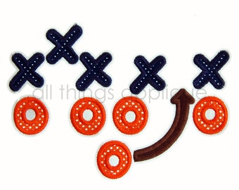 Football Play - Machine Embroidery Applique Design - Satin AND Bean Stitch - INSTANT DOWNLOAD