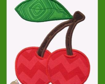 Cherries Applique design