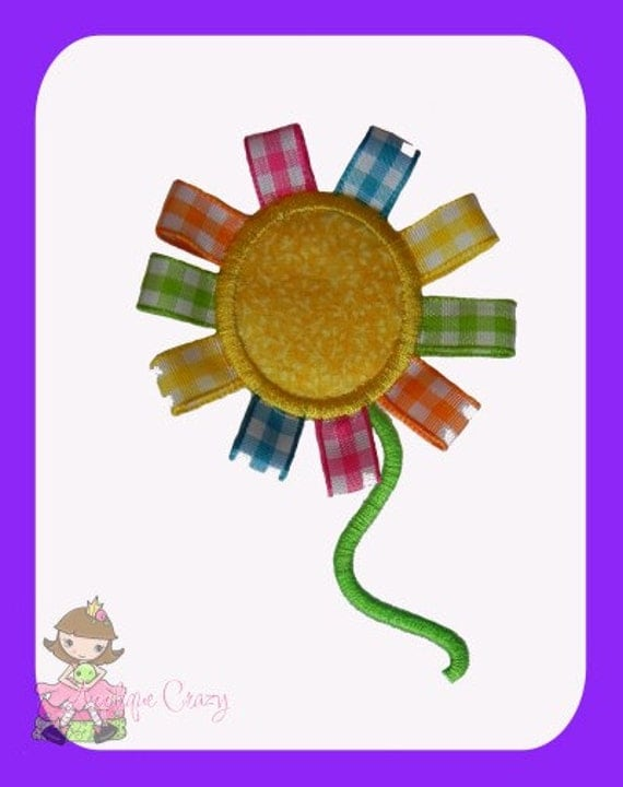 Ribbon Flower Applique design