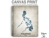 Philippines Map Stretched Canvas Print - Home Is Where The Heart Is Love Map - Original Personalized Map Print on Canvas