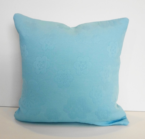 Decorative Pillow Cover Baby Blue Accent Pillow 14 x 14