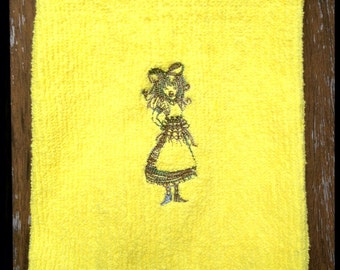 Alice embroidered hand towel