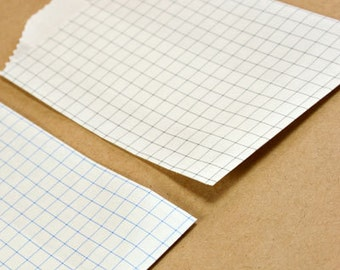 25 Small Grid Paper Bags