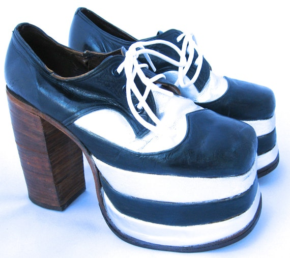 1970's Men's Platform Shoes / Disco Shoes / Platform