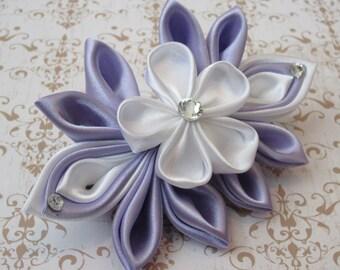 Lavender Sakura Kanzashi Barrette
