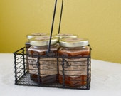 Wire Gift basket with handle, 5 Organic -  5 oz jars  Perfect for your favorite honey connoisseur.