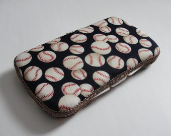 Baby Wipes Case, Travel Baby Wipes Case, Baseball Print