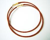 Thread Wrapped Hoops, Brown Hoop Earrings, Large Hoop Earrings, UK Sellers Only