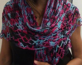 Triangle Shawl in Box Stitch Lace