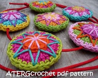 Crochet pdf pattern CIRCLE by ATERGcrochet