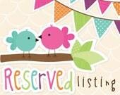 Reserved Listing for Jillian