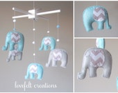 Baby  mobile - Custom Baby Mobile - Elephant Mobile - You can PICK ur COLORS and FABRIC :)